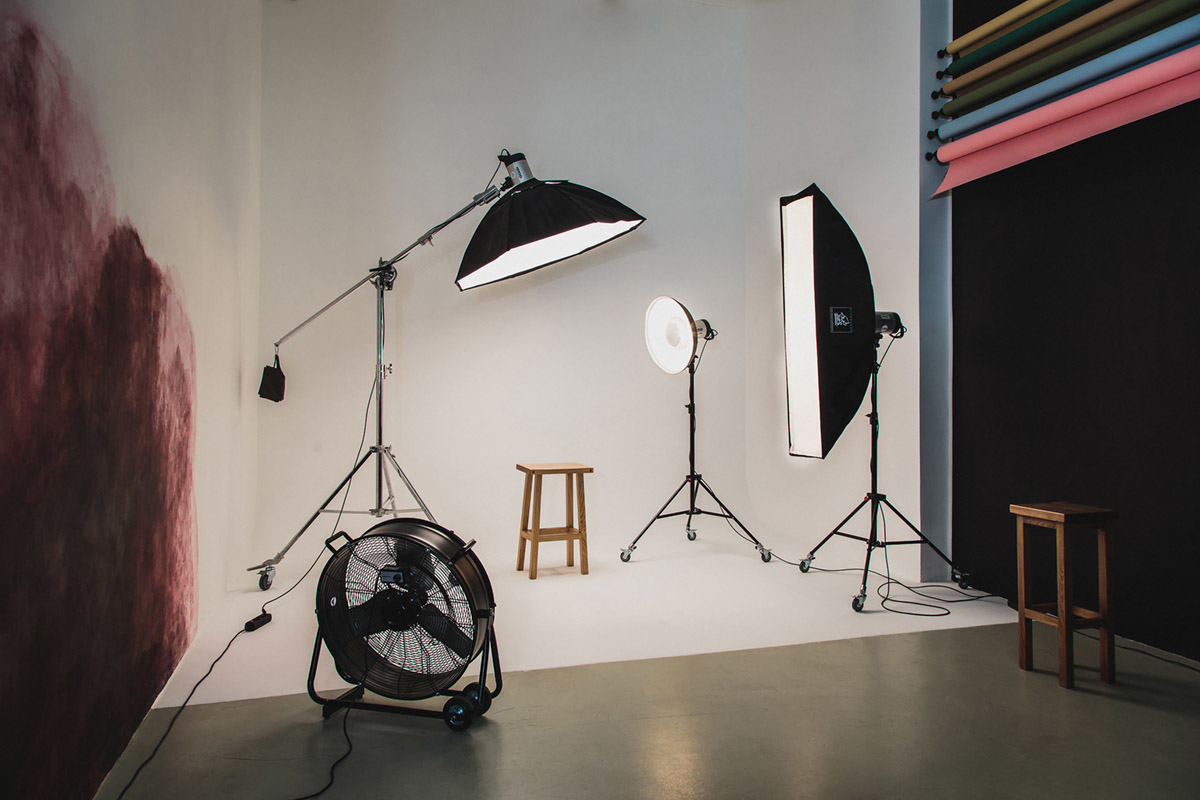 фотостудия с кубиками циклорама для карантина